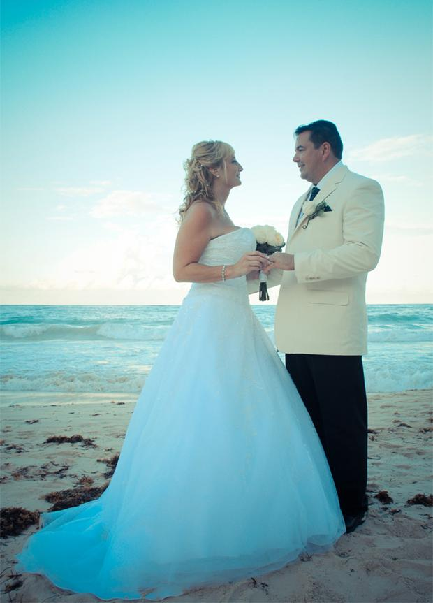 """Paul and Cari Lyttle, Married in the Dominican Republic, at the Paradisus Punta Cana. <p><b>To send us your Wedding Pics <a  href=""""http://www.belfasttelegraph.co.uk/usersubmission/the-belfast-telegraph-wants-to-hear-from-you-13927437.html"""" title=""""Click here to send your pics to Belfast Telegraph"""">Click here</a> </a></p></b>"""