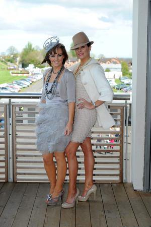 Kelly Mulgrew from Downpatrick and Caoimhe Curran from Belfast at Down Royal races May Day 2010