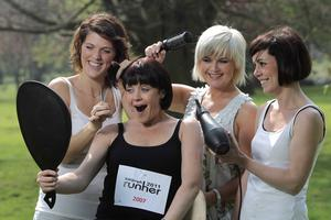 26th April 2011Runher Team Prove theyÕre a cut above A team of stylists from Bangor based DKY Hair Company aim to let their hair down on Sunday 15th May and take part in this yearÕs Belfast Telegraph Runher at Stormont Estate, Belfast. As an extra incentive for the thousands of runners, DKY is also offering one yearÔs free hair care for the winner of the 10K Race and global hair product company Joico will supply samples for all entrants goody bags.   Gearing up for Runher are DKY stylists Laura Bradshaw (left) and Kerry Moody (right) along with Wenda Davidson (centre) pictured with Cool FM presenter Kirstie McMurray who has already completed five Belfast Telegraph Runher races. Cool FMÕs charity Cash for Kids will benefit from this yearÕs event which also has the backing of Belfast City Council, through its ÔSupport for SportÕ initiative and Sport Northern Ireland. To register for Belfast Telegraph Runher on May 15 visit  www.runher.co.uk.Media contact: Rosemary Allister or Sarah Weir at JPR Tel 028 9076 0066 or mobile 07880 504928.