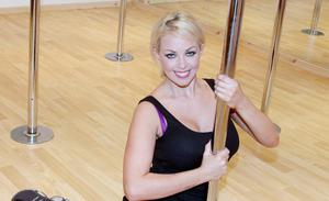 Gemma Garrett learns pole dancing at the Star Dance And Fitness Studios in Coleraine.