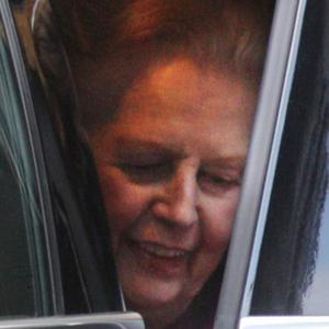 Baroness Thatcher leaves the Cromwell hospital after spending nearly two weeks recovering from a bout of flu