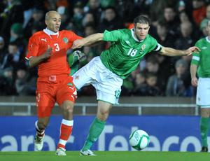 <b>Aaron Hughes - 6</b><br /> Had to adjust to having a new partner beside him as Jonny Evans hasn't played at centre-half too often for Northern Ireland. Was put under pressure in the 45 minutes he played, but largely coped without too much difficulty.