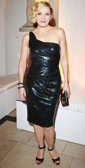 Kim Cattrall at the aftershow party for the new film Sex And The City 2 at the Orangery in London.