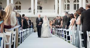 Bill Clinton walking his daughter Chelsea down the isle for her wedding Saturday July 31, 2010 in Rhinebeck,N.Y.