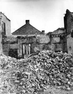 Riots : Belfast. August 1969.  Piles of rubble at the side of the Falls Road, Belfast.  All that remian of one of the buildings destroyed during the rioting.  (19/8/69)