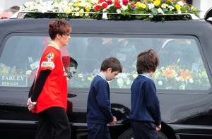 The funeral Mass of Ronan Kerr took place in Church of the Immaculate Conception, Beragh, Co Tyrone