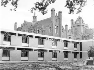 A view of the new study block at Campbell College, 1964.