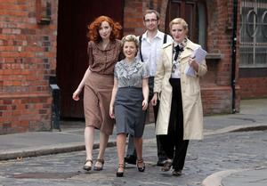 Bronagh McCrudden, Claire McCartney, Jack Geary and Aislinn Clarke from the Wireless Mystery Theatre