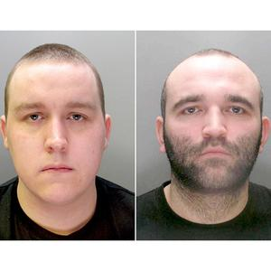 Anthony Downes, left, and Kirk Bradley, were sprung from the prison van