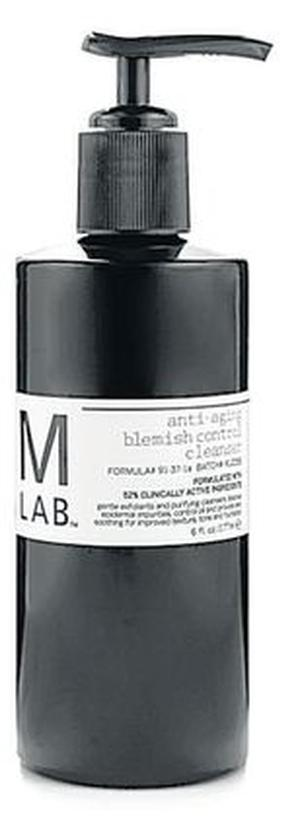 <b>M Lab Anti-Aging Blemish Control Cleanser</b><br/>  This product by M Lab is dermalogically tested so is suitable for all skin types. Costing little bit more than your average cleanser, this product gently exfoliates the skin, reduces oiliness and improves the tone and texture of the skin. Use twice weekly.<br/>  <b>Where</b> M Lab (www.mlabonline.com)<br/>  <b>How much</b> £50 (177ml)