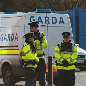 Two men have been arrested over an armed raid on a Dublin bank