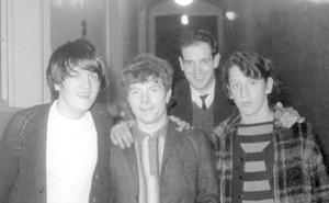 Fresh-faced and with a remarkable career ahead of him - Van Morrison (second from left)