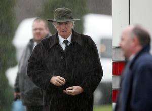 Derek Dougan at George Best's funeral