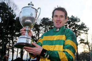 AP McCoy after the winning Paddy Power Steeplechase on Colbert Station at Leopardstown's Christmas Festival