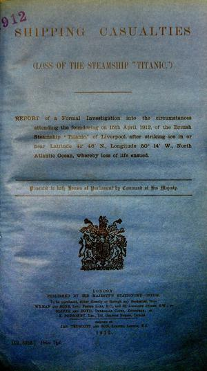 The Titanic Report at a book fair in the Wellington Park Hotel. The document, dated July 30, 1912, was the main attraction at the Belfast Antiquarian Book Fair in the Wellington Park Hotel. The report, which was published three months after the tragedy, was presented for sale by Arthur Davidson of Davidson Books at Spa, Ballynahinch