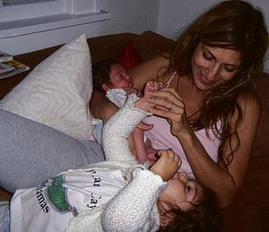 Loving mother Irene Vilar and her two daughters