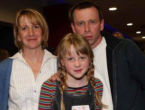 Leila O Neil with her mother Sharon and Father Danny from West Belfast at the City Beat Young Star search auditions