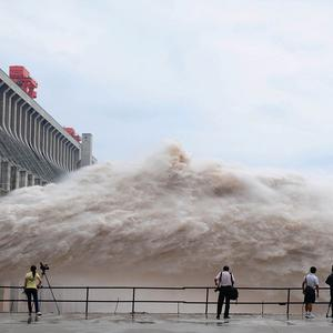 Flood water is released from the Three Gorges Dam's floodgates in Yichang, in central China's Hubei province (AP)