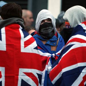 Loyalists took to the streets again in protest against a decision by Belfast City Council to restrict the flying of the union flag at Belfast City Hall