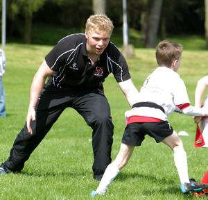 Nevin Spence at Ulster's summer camp
