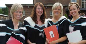 Anne Mulholland,Karen Quinn, Anne Thompson and Emma Smyth who all graduated with a BA in Early Childhood Studies