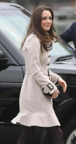 BELFAST, NORTHERN IRELAND - MARCH 08:  Kate Middleton arrives at City Hall on March 8, 2011 in Belfast, Northern Ireland. The Royal Couple are visiting Northern Ireland as part of a tour of the Nation that a couple of weeks ago took them to St Andrews University in Scotland and Anglesey in North Wales to launch a lifeboat. This day-long trip to Ireland has been kept top secret due to security issues. They will marry on the 29th April at Westminster Abbey in a much anticipated ceremony.  (Photo by  Niall Carson - WPA Pool / Getty Images)
