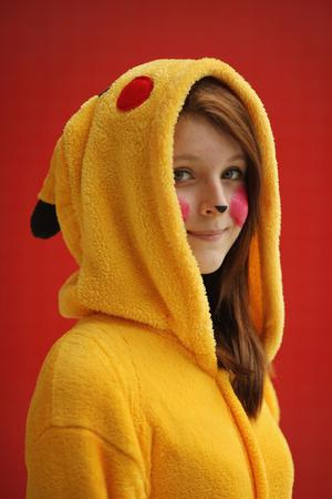 LONDON, ENGLAND - OCTOBER 26:  Rosmina Stones, 15, from Lithuania poses as Pokemon ahead of the MCM London Comic Con Expo at ExCel on October 26, 2012 in London, England. Visitors to the Comic Convention are encouraged to wear a costume of their favourite comic character and flock to the Expo to gather all the latest news in the world of comics, manga, anime, film, cosplay, games and cult fiction.  (Photo by Dan Kitwood/Getty Images)