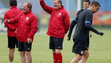 KRAKOW, POLAND - JUNE 13:  England manager Roy Hodgson during an England training session during UEFA Euro 2012 on June 13, 2012 in Krakow, Poland.  (Photo by Scott Heavey/Getty Images)