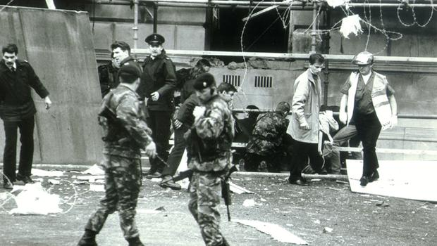 Belfast City Hall bombed. 23/5/1994.
