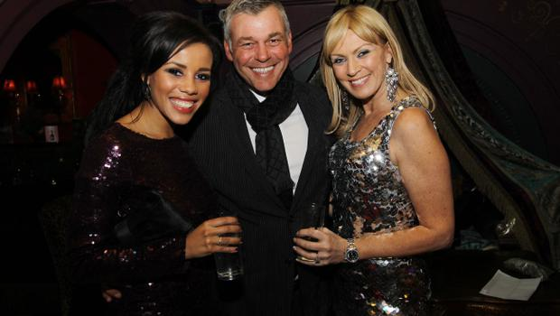 Lori Moore, Darren Clarke and Alison Campbell at the Alison Campbell Modelling Agency Christmas Party at Cafe Vaudeville. Picture by Kelvin Boyes / PressEye.com