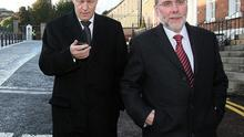 Nelson McCausland with DUP Leader Peter Robinson (left)
