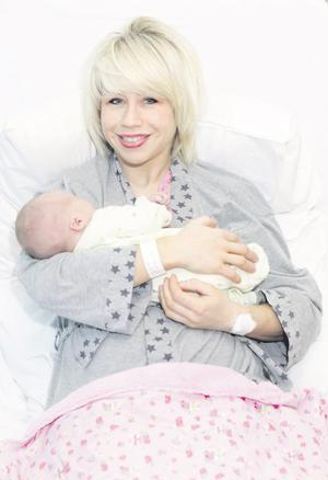 Denise Montgomery with her baby son, her third child