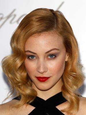 Actress Sarah Gadon arrives at the 2012 amfAR's Cinema Against AIDS during the 65th Annual Cannes Film Festival at Hotel Du Cap on May 24, 2012 in Cap D'Antibes, France.