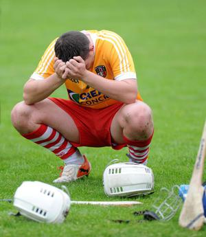 Derry's Conor McSorley can't hide his disappointment