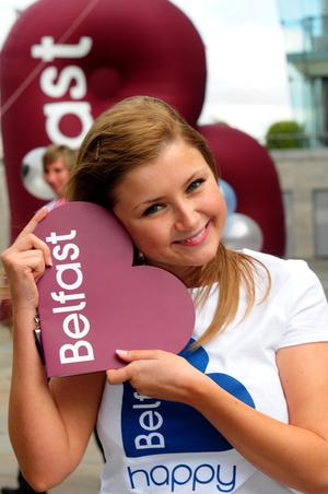 Kathryn Wilson with the new brand for Belfast