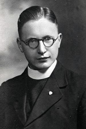 Cahal Daly pictured early in his career as a cleric