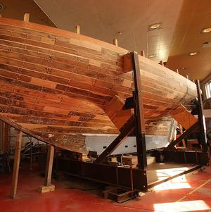 The Asgard being restored at the National Museum Collins Barracks