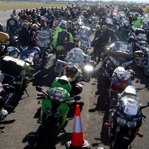 Hundreds of bikers are expected to bring traffic to a standstill in a mass protest at the record price of petrol