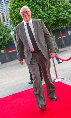 Arriving on Red Carpet for the European Premiere of Whole Lotta Sole is the Arts Minister Caral Ni Chuilin, Belfast Film Festival Director, Michele Devlin with the Deputy First Minister Martin McGuinness.