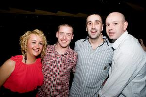 The Northern Whig pictured Julie and Conor Agnew, Damo McKeown and Barney Hill