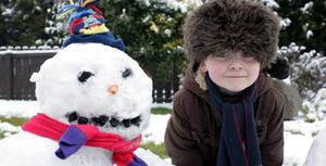 Cosy Jack and Snowman Thomas. Submitted by Sinead Hoben, Newry