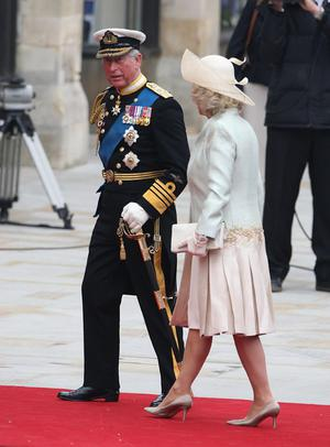 The Prince of Wales and the Duchess of Cornwall arrive at Westminster Abbey ahead of the wedding between Prince William and Kate Middleton. PRESS ASSOCIATION Photo. Picture date: Friday April 29, 2011. Photo credit should read: Steve Parsons/PA Wire