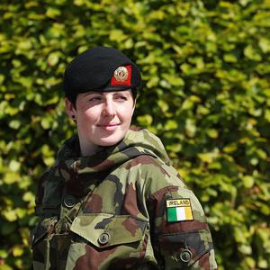 Private Emma Furlong said she is eager to serve in Lebanon