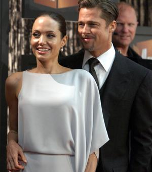 Actress Angelina Jolie and actor Brad Pitt arrive at VH1's 14th Annual Critics' Choice Awards held at the Santa Monica Civic Auditorium on January 8, 2009 in Santa Monica, California