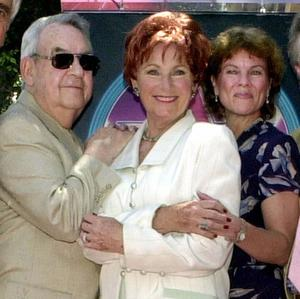 Tom Bosley, Marion Ross and Erin Moran of Happy Days pictured in 2001 (AP/EJ Flynn)