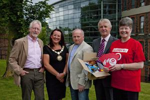 Mayor tees off annual fundraising challenge From left, John Clarke, NI Dyslexia Association, Alderman Paula Bradley, Rev Bill Boyce, the mayor's chaplain; Tommy Mearns, Sandes Missions and Maureen Paul, Allergy NI