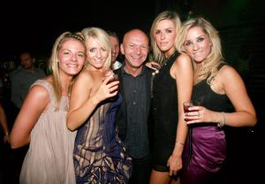 Emma Speele, Alison Bryans, Alan Lewis, Sofie Madill, and a friend at Style Academy's 18th Birthday bash in the Rain Night Club.