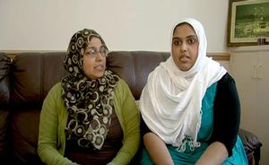 Ibrahim Musaji's mother Fatima (left) and sister is Farhara are interviewed at their home in Gloucester, after Ibrahim was believed to be amongst those that were taking part in the aid flotilla attacked by Israelis