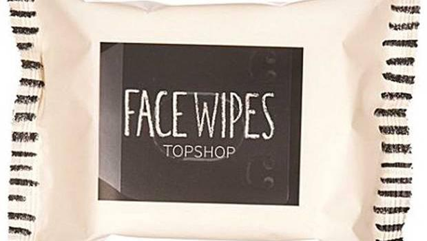 15. Face wipes, £2.50, Topshop
