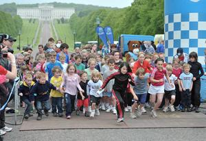 ©Russell Pritchard / Presseye  15th May 2011Belfast Telegraph Runher event at Stormont, Belfast.The start of the kids race©Russell Pritchard / Presseye